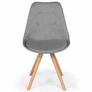 Chaise Scandinave Beige : chaises scandinaves ida tissu gris lot de 4 pas cher scandinave deco ~ Teatrodelosmanantiales.com Idées de Décoration