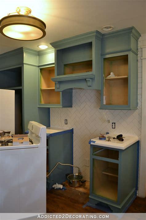 teal kitchen cabinet progress  cabinet hardware