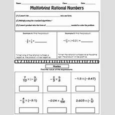 Multiplying Rational Numbers Notes By Route 22 Educational Resources