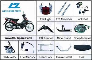 China Honda Wave 100cc Motorcycle Oem Parts