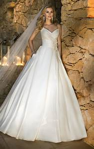 ball gown v neckline wedding dress with spaghetti With ball gown wedding dress with straps