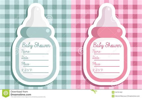 Baby Shower Bottle Invitations Stock Vector Bathroom Light Pulley Modern Reviews Recessed Ceiling Lights Crystal Vanity Ventilation Showers How To Change A Fixture In Sinks