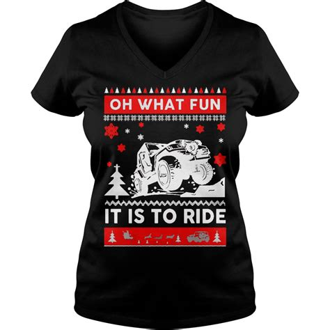 jeep christmas shirt jeep sweater christmas oh what fun it is to ride sweater