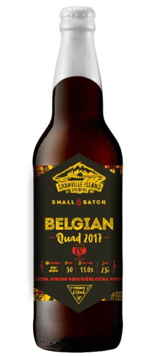 Beer Quad Granville Island Brewing Belgian Quad Just Beer