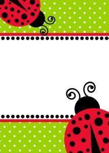 ladybug birthday invitation template