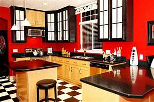 painting wall painting ideas for red kitchen With kitchen colors with white cabinets with black white and red wall art