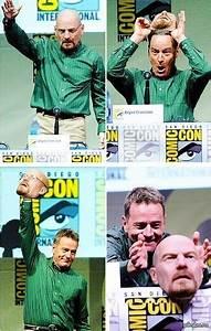 Bryan Cranston Wears a Walter White Mask To Comic Con