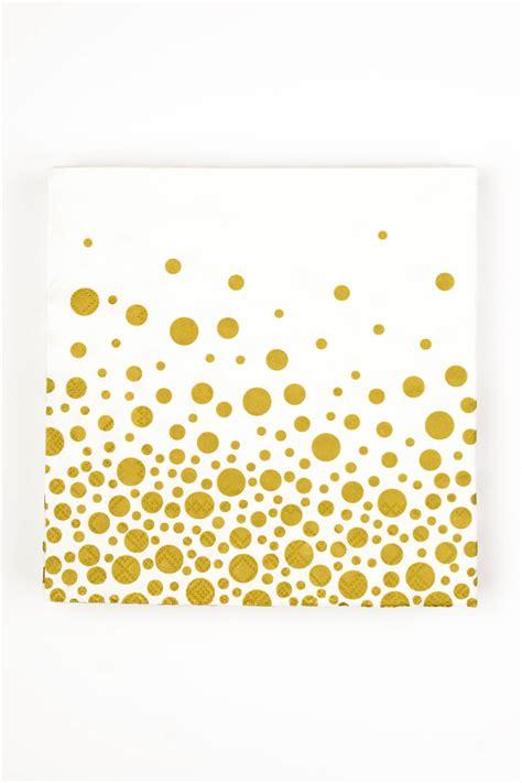 sparkling gold dots cocktail napkin