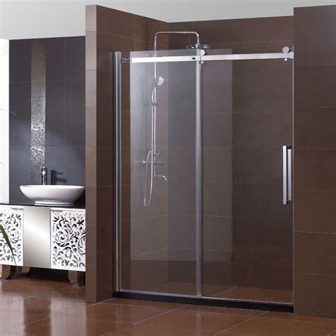 sunny shower  semi frameless sliding shower doors