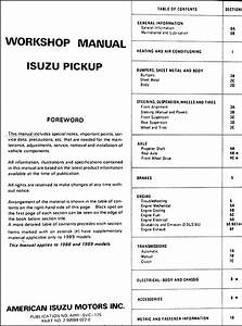 1989 Isuzu Npr Wiring Diagram : 1988 1989 isuzu pickup truck repair shop manual original ~ A.2002-acura-tl-radio.info Haus und Dekorationen