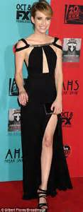 Emma Roberts stuns in black gown at American Horror Story ...