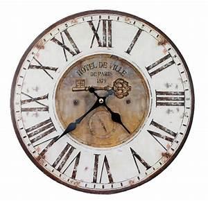 Wanduhr Holz Vintage : deko wanduhr finebuy deko vintage wanduhr xxl 60 cm paris holz finebuy deko vintage wanduhr ~ Indierocktalk.com Haus und Dekorationen