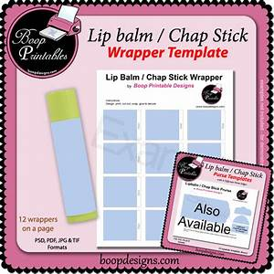 lip balm chap stick wrapper printable template by boop With chapstick label design