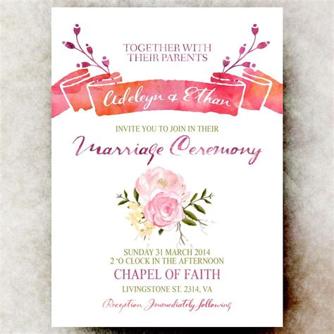 Pin by Hannah Chan on wedding ideas Printable wedding