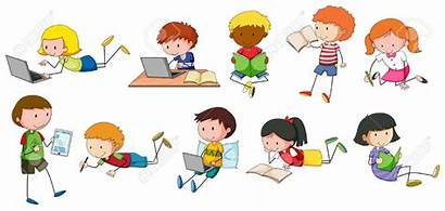 Clipart Writing Reading Kinder Schreiben Lesen Children
