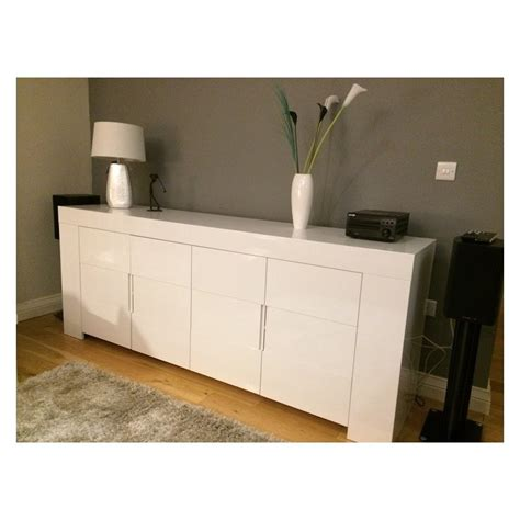 Gloss Sideboards dolce italian white gloss sideboard