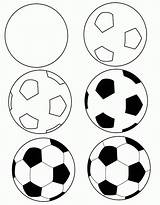 Soccer Balls Printable Coloring Ball Popular sketch template