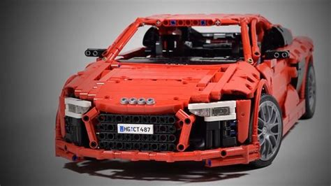 lego audi r8 audi r8 v10 second generation lego technic legoleaks b flickr