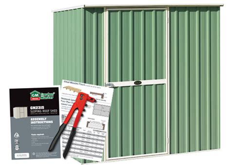 garden master sheds how to assemble