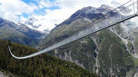 Šveices garākais gājēju trošu tilts - Pieraksti