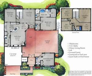 u shaped house plans on home with unique floor plan pool With floor plans with pool in the middle