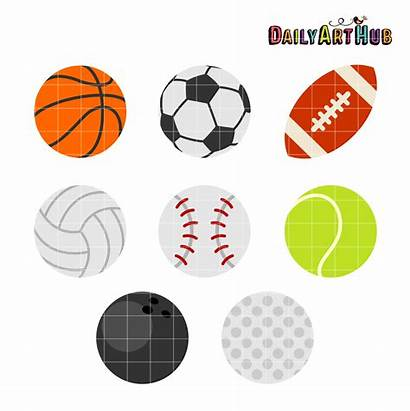 Clipart Sports Objects Clip Balls Sets Ball