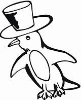 Penguin Pages Coloring Printable Penguins Cartoon Bowling Hat Getcoloringpages Cliparts Colouring Clipart Para Pinguim Clip Animal Colorir Pintar Bear Library sketch template