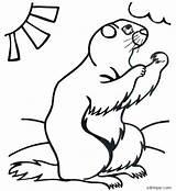 Groundhog Coloring Pages Sheet Sheets Lovetoteach Printable Ground Simple Hog Along Preschool sketch template