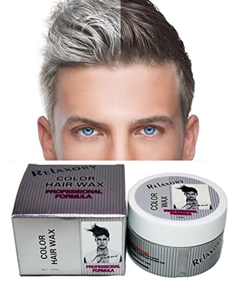 relaxory temporary color hair wax molding clay gery white