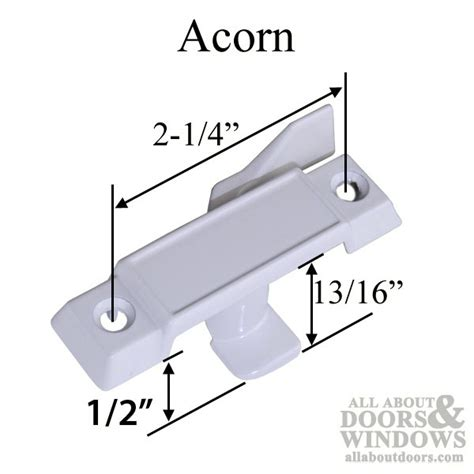 acorn window parts   offset sash lock latch white