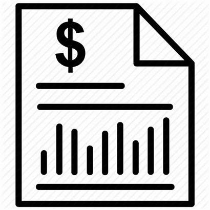 Icon Statement Financial Bank Clipart Business Report