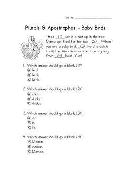 primary grammar plural nouns apostrophe practice