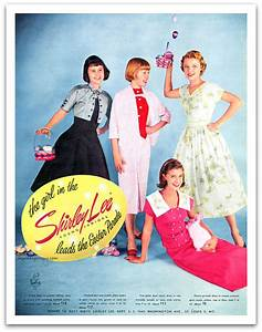 1956 Shirley Lee Magazine Advertisement Young Juniors Vintage