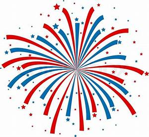 Red White And Blue Fireworks Cartoon Pictures to Pin on ...
