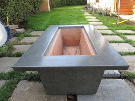 It's substantial size is great for larger overall, the century modern outdoor fire pit is a stunning concrete fire table. Concrete Gas Fire Pits