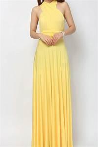 Yellow Maxi Bridesmaid Dress Infinity Dress [lg-09] - $51.66  Infinity Dress | Convertible ...