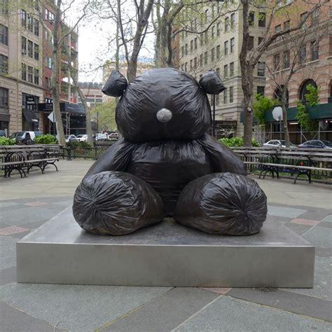 tribeca citizen  heard  trash bag teddy bear