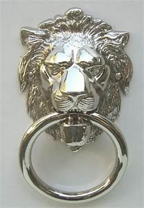 Stuhl Mit Ring : gro er t rklopfer l wenkopf nickel oder nickel matt t 15n nm ebay ~ Frokenaadalensverden.com Haus und Dekorationen