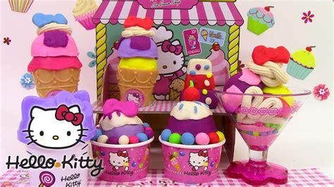 play doh hello shop le marchand de glaces p 226 te 224 modeler ハローキティ アイスクリーム