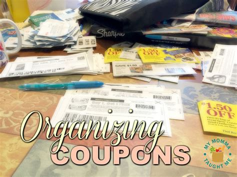 Office Depot Coupons December 2012 by How To Organize Your Coupons My Momma Taught Me