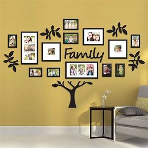 Family tree collage picture plaque photo wall art mount for Family wall art