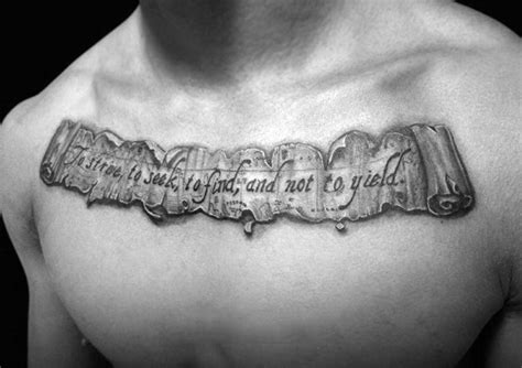 scroll tattoos  men manly paper design ideas