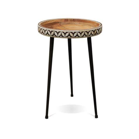 Bella Small Bone Side Table   Industrial Chic Style Furniture   Oli & Grace