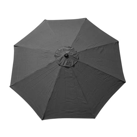 9 ft 8 ribs replacement umbrella cover canopy grey top