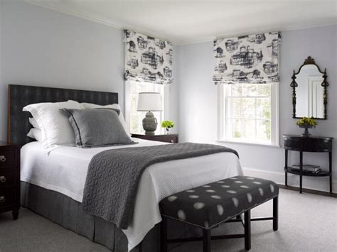And Black Bedroom Accessories by Masculine Gray Bedroom With Black And White Accessories Hgtv