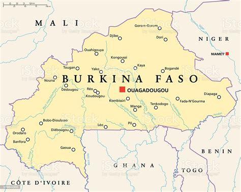 Burkina Faso Politische Karte Stock Vektor Art und mehr ...