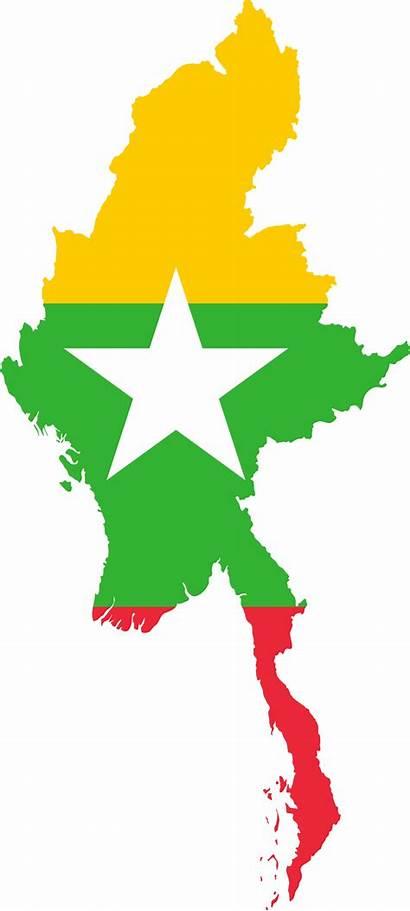 Myanmar Flag Map Burma Independence National Transparent