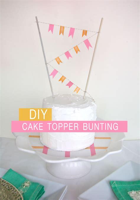 diy wedding cake topper bunting diy cake topper bunting