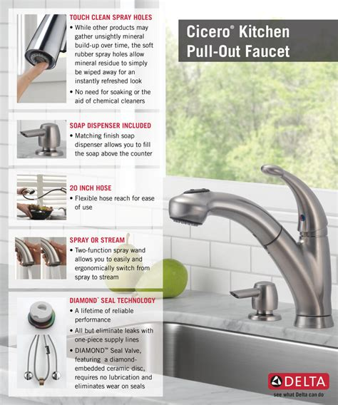 how to install delta kitchen faucet delta cicero single handle pull out sprayer kitchen faucet
