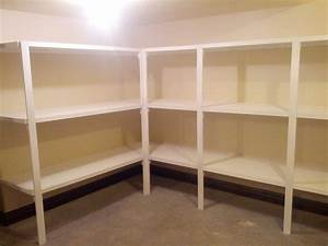 Kitchen pantry shelving systems wood with pantry shelving for Shelving systems for pantry